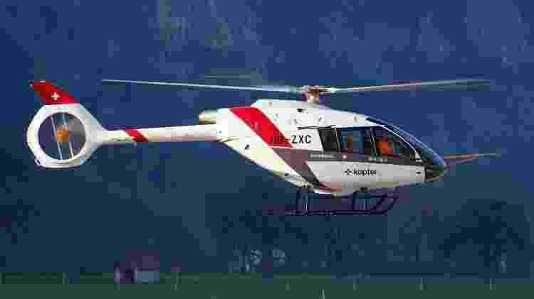 O helicóptero suíço Kopter SH09 está em fase final dos testes de voo - Divulgação - Divulgação