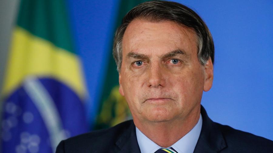 O presidente Jair Bolsonaro, em pronunciamento exibido em rede nacional - Isac Nóbrega/PR