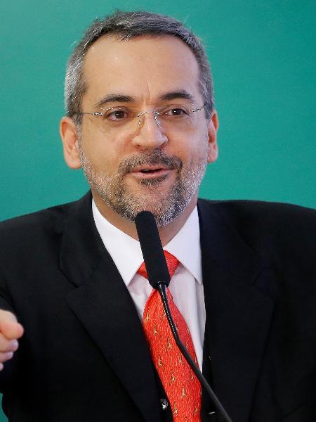 Ministro da Educação, Abraham Weintraub: eu e minha língua grande - Reprodução