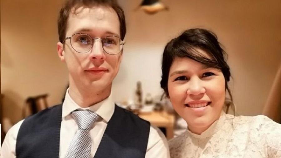 Gabriela e Michael se conheceram online e namoram desde 2018 - Arquivo Pessoal