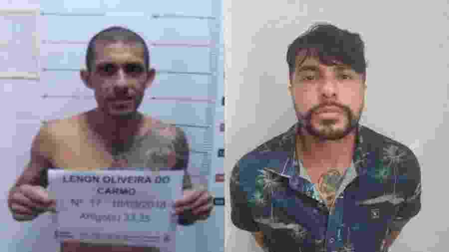 O traficante Lenon Oliveira do Carmo antes e depois das cirurgias que, segundo a polícia, foram realizadas para evitar sua identificação - Divulgação/SSP-AM