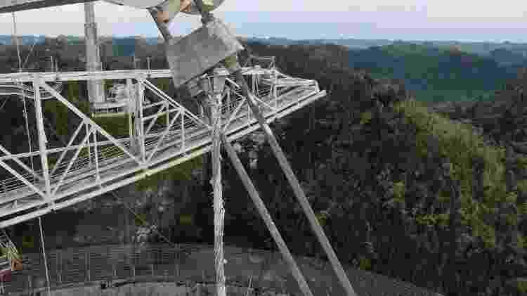Segundo cabo do telescópio de Arecibo, que foi rompido em novembro de 2020 - UCF Today - UCF Today