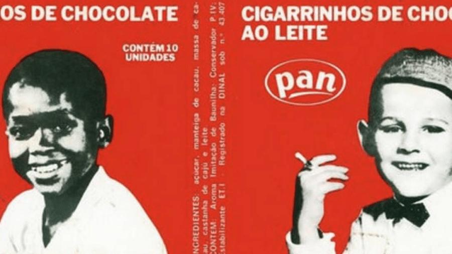 Chocolates Pan, caixinha de cigarrinhos de chocolate ao leite, lançado nos anos de 1950 - Reprodução