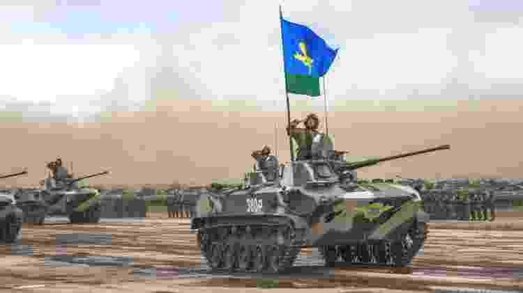 O Kremlin mobilizou a 56ª Brigada Aerotransportada, uma das forças que usou nos conflitos no Afeganistão e na Chechênia - Ministério da Defesa - Ministério da Defesa