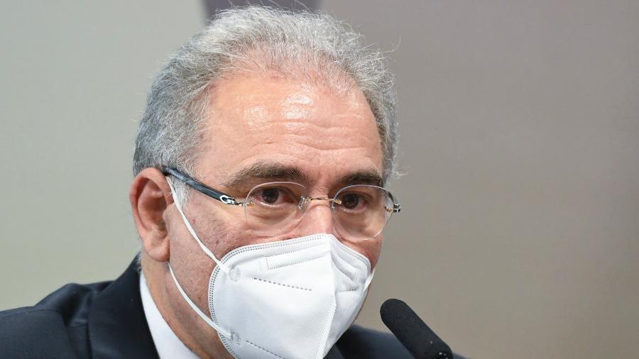 Ministro da Saúde, Marcelo Queiroga, na CPI da Covid - Jefferson Rudy/Agência Senado