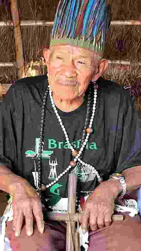 Cacique guarani-kaiowá Tito Vilhalva na Terra Indígena Guyraroká, em Caarapó (MS) - Rubens Valente / UOL - Rubens Valente / UOL
