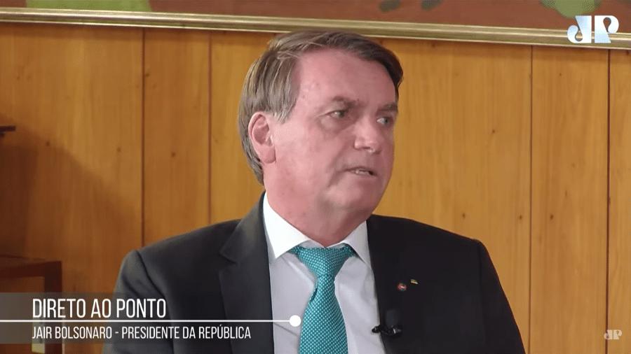 """Bolsonaro em entrevista à rádio Jovem Pan: """"Tenho extrema confiança no Roberto Campos"""" - Reprodução/Youtube/Jovem Pan"""