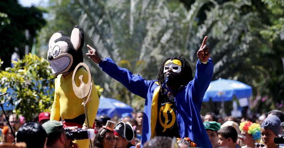 23.jan.2016 - Folião participa de bloco pré-Carnaval no Rio de Janeiro chamado