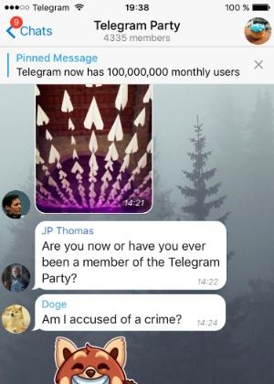 15.mar.2016 - Telegram recebe capacidade de grupos de 5 mil pessoas