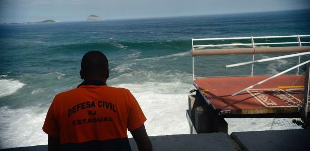 Trecho da ciclovia Tim Maia, que desabou na avenida Niemeyer, na zona sul do Rio