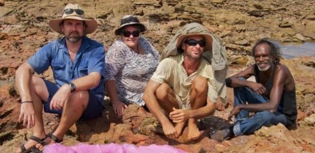 Os rastros de dinossauros fazem parte da mitologia da população aborígene da Austrália - QUEENSLAND UNIVERSITY/JAMES COOK UNIVERSITY