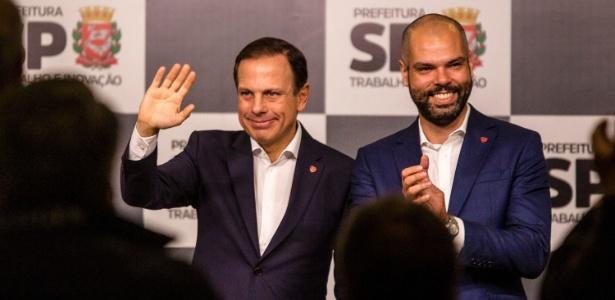 Doria (à esq.) mudou Bruno Covas para articulação política