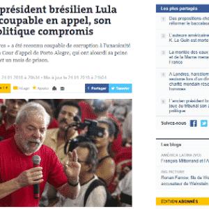 """""""Le Monde"""" chama Lula de """"figura mítica da política brasileira"""" - Reprodução"""