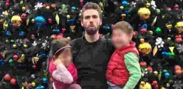 Os filhos de Michael Simpson não sabem que o pai foi assassinado pela mãe - Arquivo pessoal via BBC