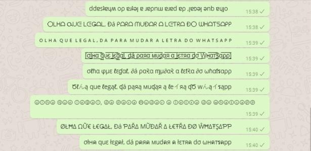 07253bbc7 Dá para usar diferentes tipos de letra nas mensagens do WhatsApp  aprenda