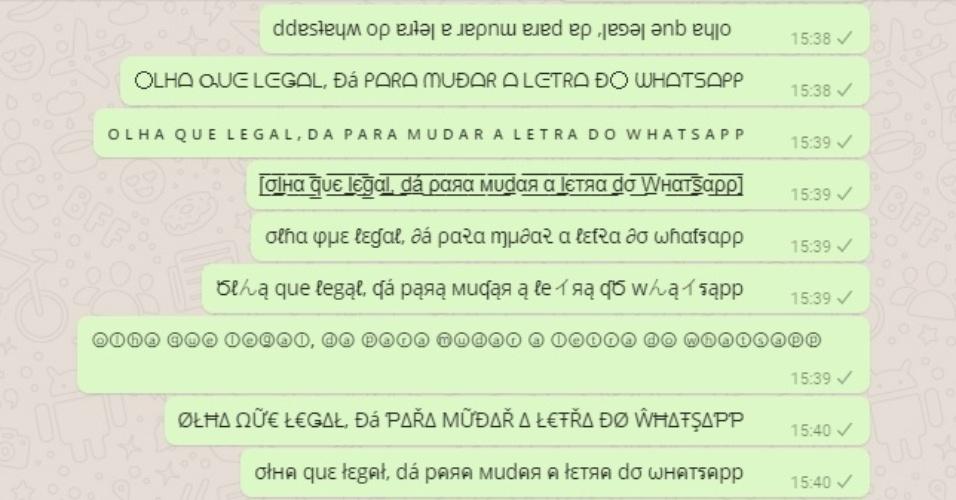 Dá para usar diferentes tipos de letra nas mensagens do WhatsApp; aprenda
