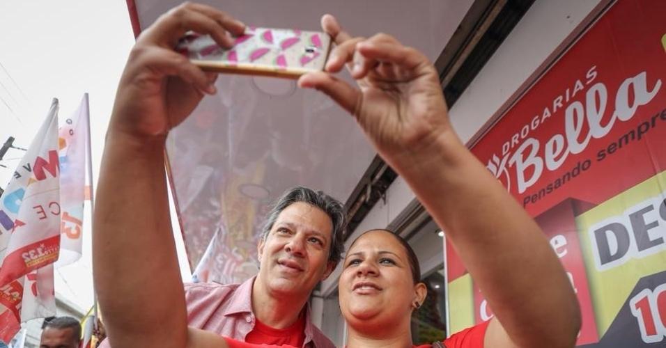 8.set.2018 - Fernando Haddad (PT) faz campanha na zona sul de São Paulo