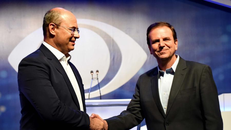 Wilson Witzel e Eduardo Paes disputaram o governo do Rio - Marcello Dias/Folhapress - 18.out.2018