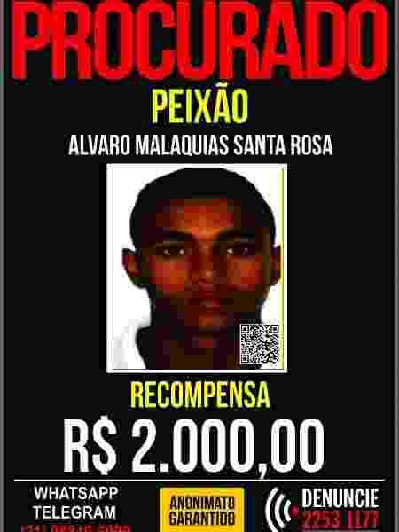 Álvaro Malaquias Santa Rosa, o Peixão, é suspeito de ser o mandante de ataques a terreiros no Rio - Reprodução