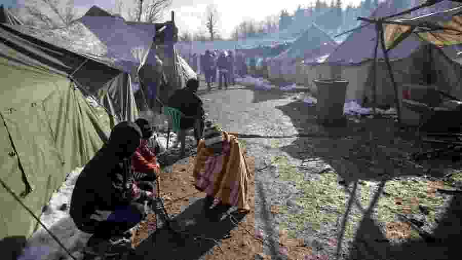 Campo de Vucjak, na Bósnia, em dezembro de 2019 - Reuters
