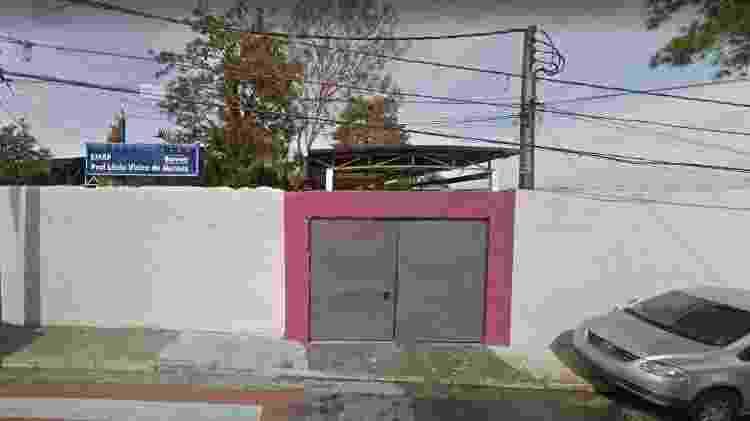 Uma das entradas da escola E. E. Lênio Vieira de Moraes  - GoogleStreetView - GoogleStreetView