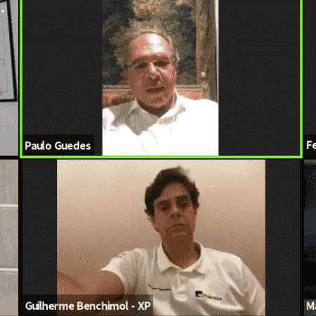 Paulo Guedes, ministro da Economia, participa de debate online - Reprodução