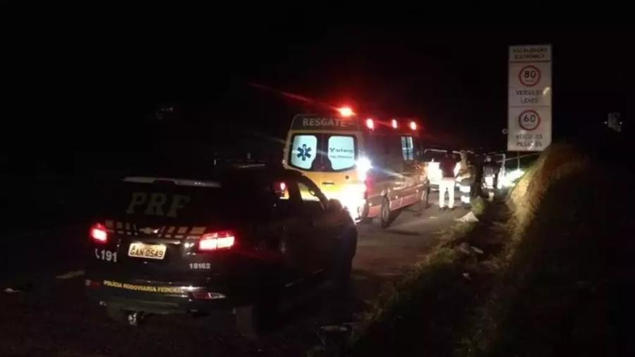 Local onde Valter Barbosa foi morto, na noite de quarta-feira (13), na rodovia Régis Bittencourt - Arquivo pessoal