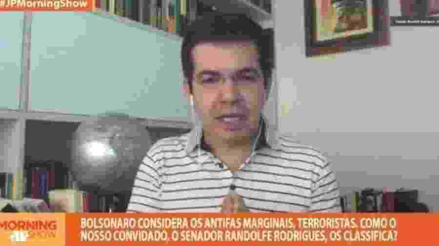 Senador Randolfe Rodrigues (Rede-AP) durante entrevista para o Morning Show - Reprodução/Youtube
