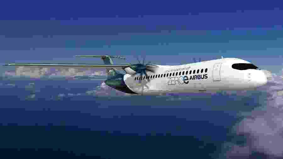 21.set.2020 - Airbus mostra protótipo de avião que aposta no hidrogênio como fonte de energia  - AFP/Airbus