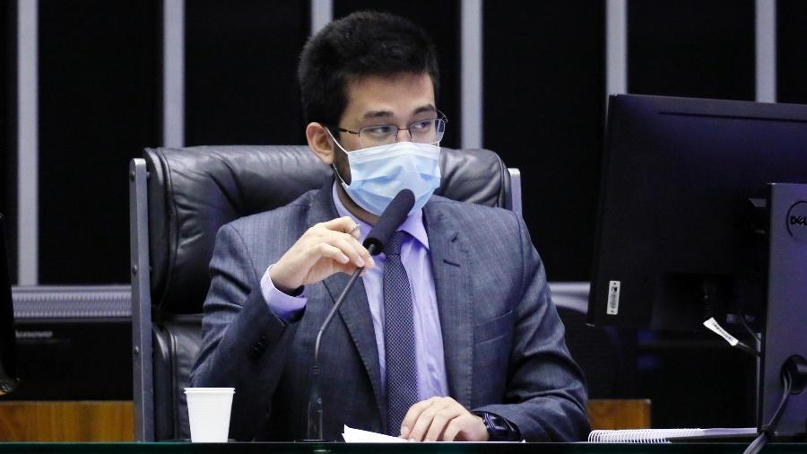 O deputado federal Kim Kataguiri (DEM-SP) durante votação de propostas na Câmara - Najara Araújo/Câmara dos Deputados