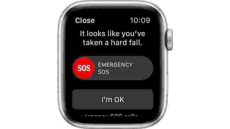 Detecção de queda do Apple Watch - Reprodução/Apple - Reprodução/Apple