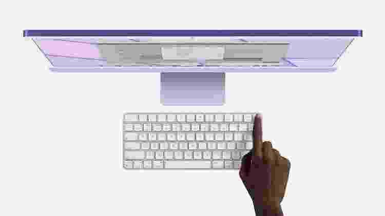 Teclado sem fio com leitor de biometria - Divulgação - Divulgação