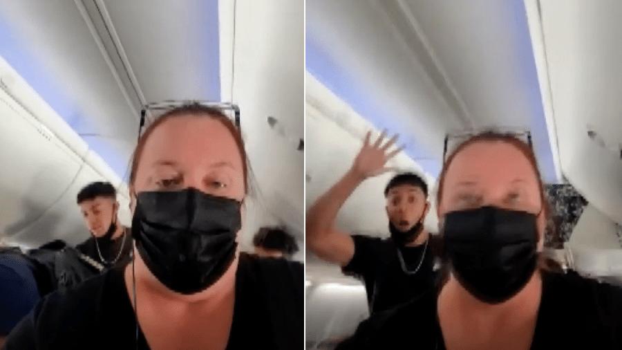 Voo que sairia da Carolina do Norte com destino às Bahamas foi cancelado após cerca de 30 estudantes se recusarem a usar máscaras no avião - WSOC-TV/Reprodução