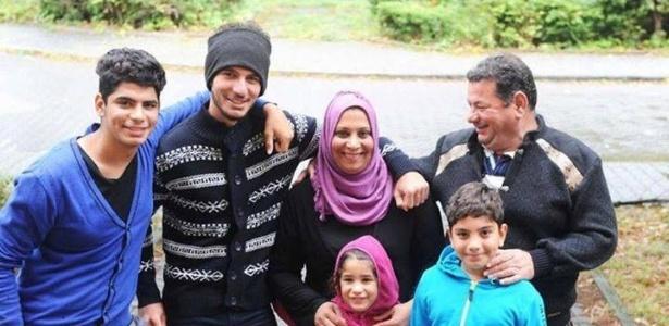Laith Majid com a mulher, Nada Adel, e Os filhos Moustafa, 18, Ahmed, 17, Taha, 9, e Nour, 7, em Berlim, na Alemanha - Europe Says Oxi/Facebook/Reprodução