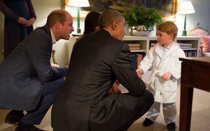 Príncipe George e Barack Obama