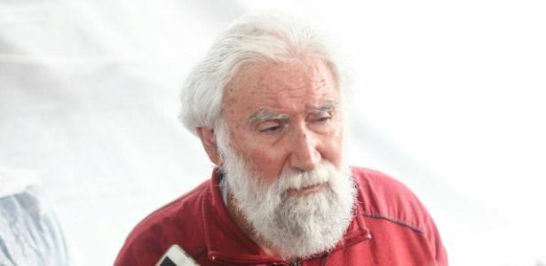 Leonardo Boff, em Curitiba, após visitar o ex-presidente Lula na prisão, em maio - Joka Madruga/Agência PT