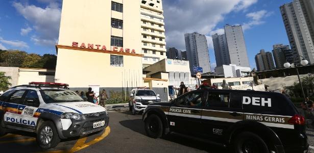 6.set.2018 - Fachada da Santa Casa de Juiz de Fora (MG) para onde Bolsonaro foi socorrido após facada - Fábio Motta/Estadão Conteúdo