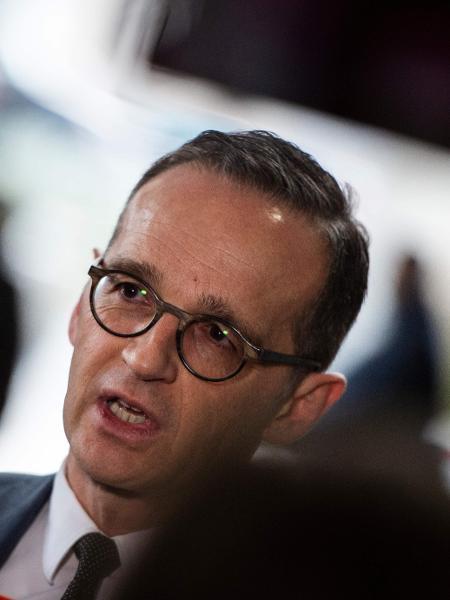 23.jan.2019 - Heiko Maas, ministro das Relações Exteriores da Alemanha  - Andrew Caballero-Reynolds/AFP