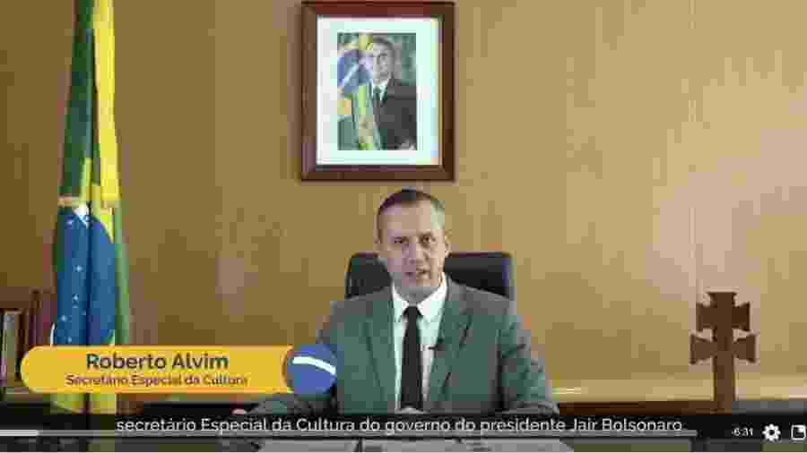 Roberto Alvim, em pronunciamento com plágio de Joseph Goebbels - Reprodução