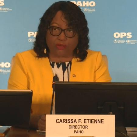 Carissa Etienne citou recordes de novos casos positivos em países do continente - Reprodução
