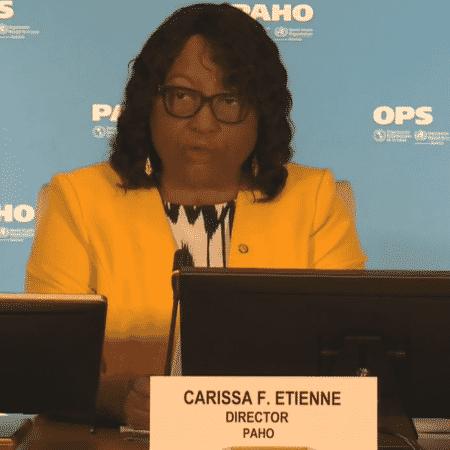 Carissa Etienne, diretora da OPAS (Organização Pan-Americana da Saúde) e diretora regional da OMS (Organização Mundial da Saúde) para as Américas - Reprodução
