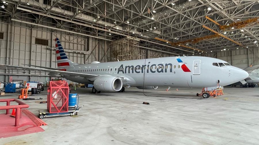 Nova tinta usada na pintura deixou o Boeing 737-800 com 28 quilos a menos - Divulgação