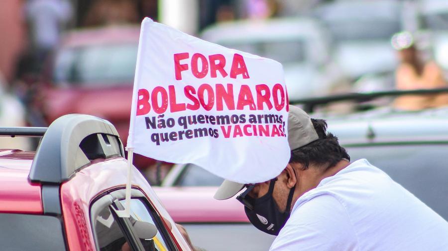 Protesto contra Bolsonaro em Belém - MARX VASCONCELOS/FUTURA PRESS/ESTADÃO CONTEÚDO