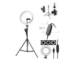 Kit Completo Ring Light Com Tripé Dimmer Youtuber Selfie Pro - Divulgação - Divulgação
