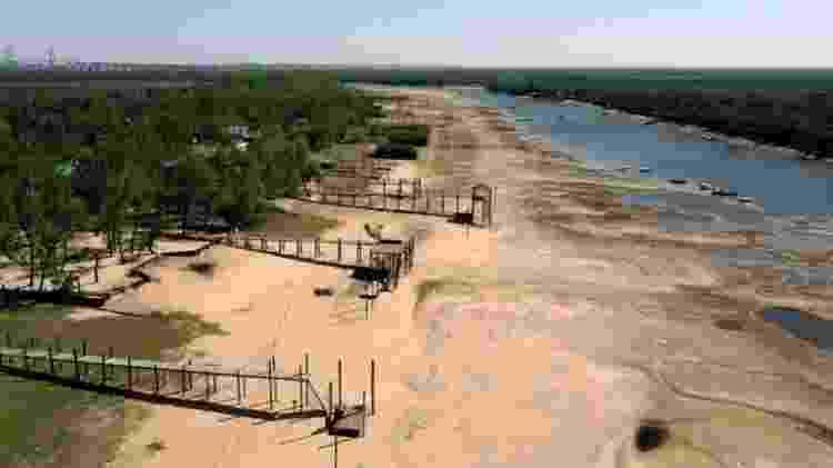 Os níveis da água não atingiam esse nível há mais de sete décadas - GETTY IMAGES - GETTY IMAGES