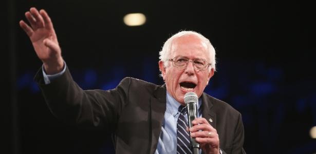 O pré-candidato do Partido Democrata, senador Bernie Sanders