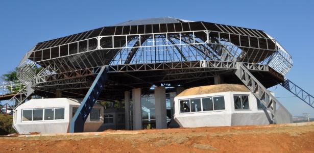 Obras do Memorial do ET em Varginha, no sul de Minas Gerais