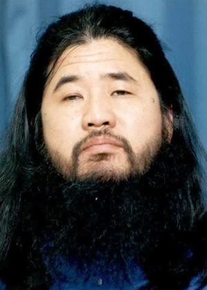 O líder do Aum Shinrikyo, Shoko Asahara, em foto de arquivo