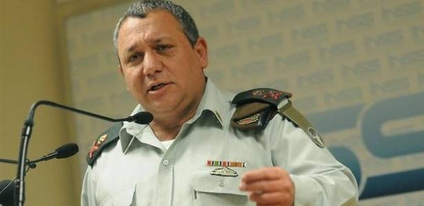 O general Gadi Eizenkot, chefe do Estado-Maior do Exército israelense