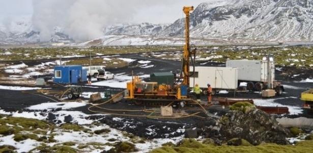 O experimento injetou 220 toneladas de dióxido de carbono a centenas de metros de profundidade